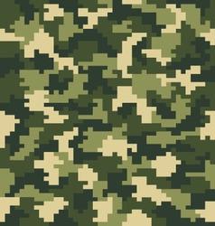 Seamless digital fashion camouflage vector