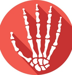 Skeleton hand icon vector
