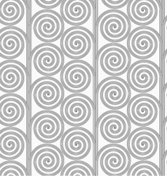 Slim gray striped spirals forming tree vector