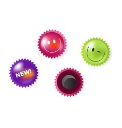 Smiling And News Icons Of Magnets vector image vector image