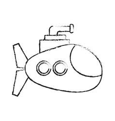 submarine vehicle icon vector image vector image