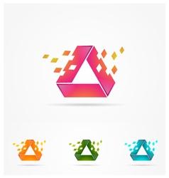 Technology rectangle logo vector
