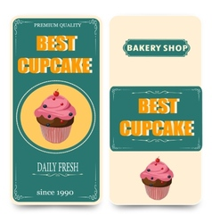 template for coffee bakery shop vector image vector image