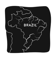 Territory of Brazil icon in black style isolated vector image vector image