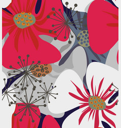 Poppy flowers elegant vector