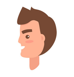 Male character face from sideview vector