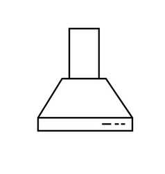 Extractor hood icon vector