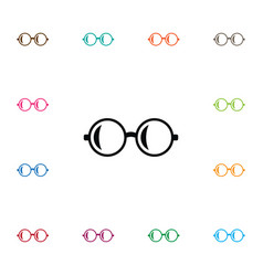 Isolated glasses icon spectacles element vector