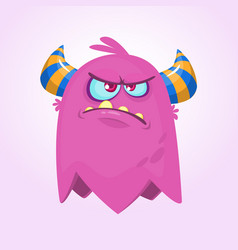 angry cartoon monster vector image