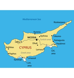 Republic of cyprus - map vector