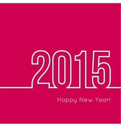 creative happy new year vector image