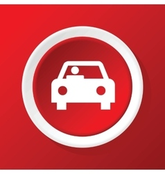 Car icon on red vector