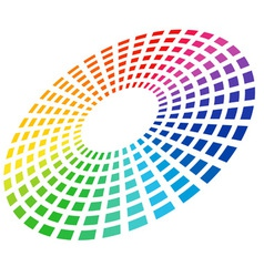 Color equalizer circle vector