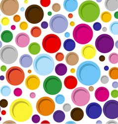 Abstract colorful circle geometric seamless vector