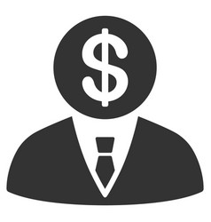 Banker icon vector
