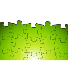 Bright puzzle background vector image vector image