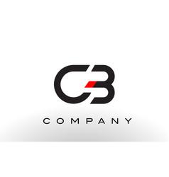 cb logo letter design vector image vector image