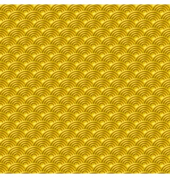 Chinese yellow gold seamless pattern dragon fish vector