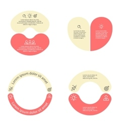 Circular infographics with 2 sections vector