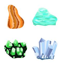 Collectionof semi precious gemstones stones vector