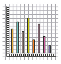 colorful silhouette of statistic graphic bars vector image