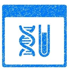DNA Analysis Calendar Page Grainy Texture Icon vector image vector image