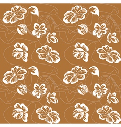 floral ornament sketch vector image vector image