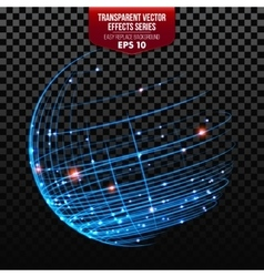 Global network wireframe globe vector