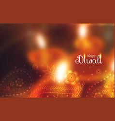 Happy diwali festival wallpaper with paisley vector