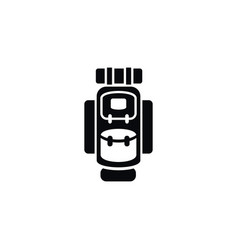 isolated haversack icon packsack element vector image