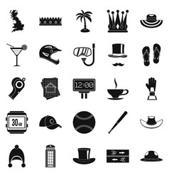 Lid icons set simple style vector