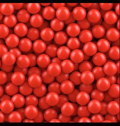 red balls background vector image