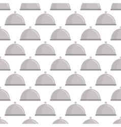 Restaurant cloche pattern seamless vector