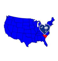 state of south carolina vector image