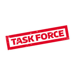 task force rubber stamp vector image vector image