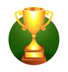 Trophy gold cup vector image vector image