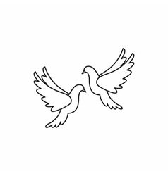 Wedding doves icon outline style vector image vector image