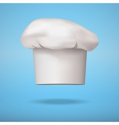 White chef cap toque vector