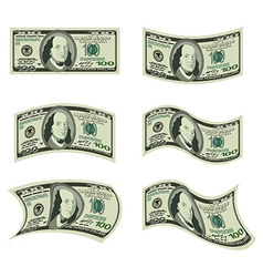 Usa money set of dollars developing cash of vector