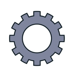 Gear setting isolated icon vector