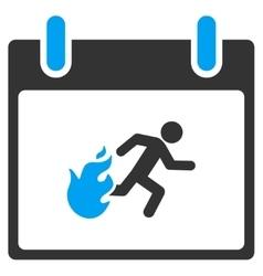Fire Evacuation Man Calendar Day Toolbar vector image