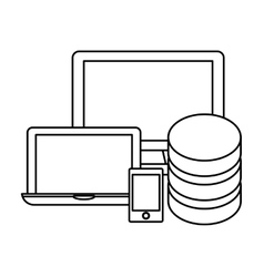 Hosting technology base center icon vector