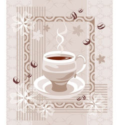 Coffee creamy composition vector