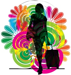 Businesswoman vector image