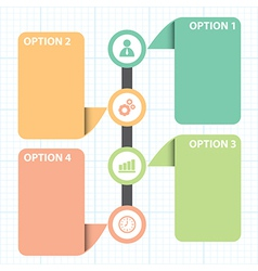 Text box with line business strategy diagram vector
