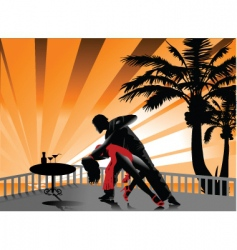 tango on the beach vector image