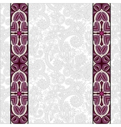 Lace border stripe in ornate floral background vector