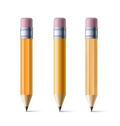 Yellow pencils vector image