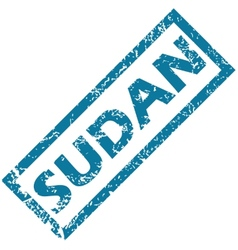 Sudan rubber stamp vector