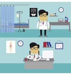Doctors workplace vector